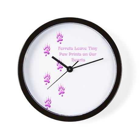 Tiny Paw Prints (Purple) Wall Clock