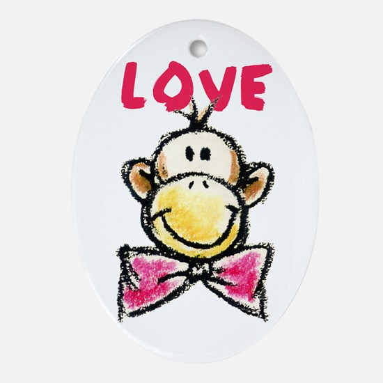 Unique Monkey humor Oval Ornament