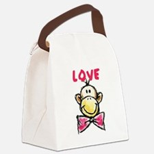 Love Monkey Canvas Lunch Bag