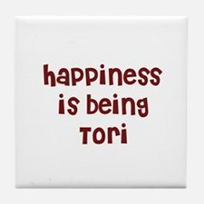 happiness is being Tori Tile Coaster