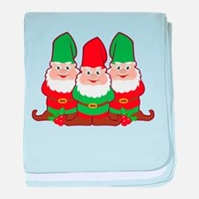 Christmas Gnomes baby blanket