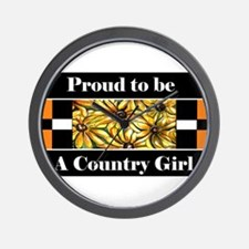 Proud To Be A Country Girl Wall Clock
