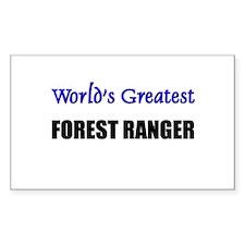 Worlds Greatest FOREST RANGER Sticker (Rectangular