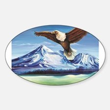 Eagle Above Mt Shasta Decal