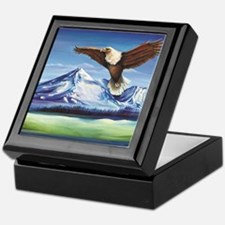 Eagle Above Mt Shasta Keepsake Box