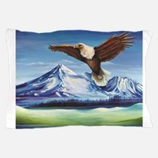 Eagle Above Mt Shasta Pillow Case