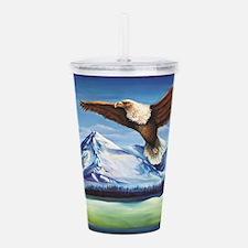 Eagle Above Mt Shasta Acrylic Double-wall Tumbler