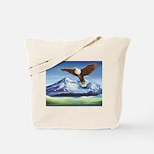 Eagle Above Mt Shasta Tote Bag