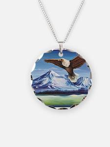 Eagle Above Mt Shasta Necklace