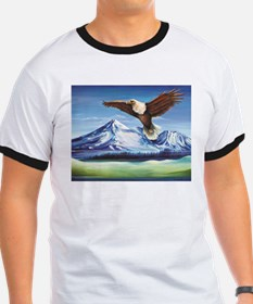 Eagle Above Mt Shasta T-Shirt