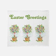 EASTER GREETINGS Throw Blanket