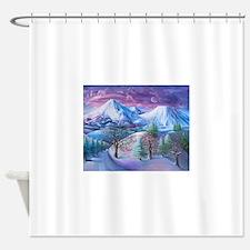 Mt Shasta Sunrise Shower Curtain