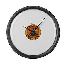 Cute Fireman Large Wall Clock