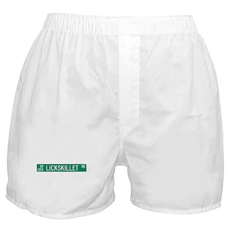 Lickskillet Road, Burnsville (NC) Boxer Shorts