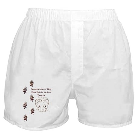 Tiny Paw Prints w/ Face(Stone) Boxer Shorts