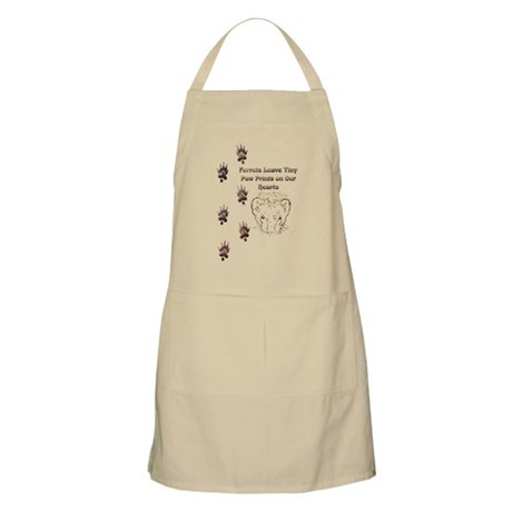 Tiny Paw Prints w/ Face(Stone) BBQ Apron