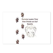 Tiny Paw Prints w/ Face(Stone) Postcards (Package