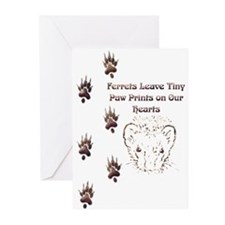 Tiny Paw Prints w/ Face(Stone) Greeting Cards (Pk