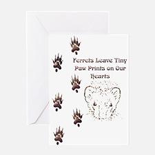 Tiny Paw Prints w/ Face(Stone) Greeting Card