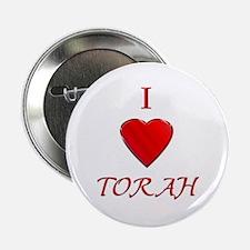 """I Love Torah 2.25"""" Button (10 pack)"""