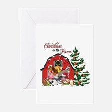 Christmas on the Farm Greeting Cards
