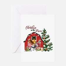Christmas on the Farm Greeting Cards