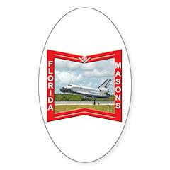Florida Masons Oval Decal