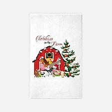 Christmas on the Farm Area Rug