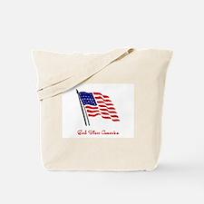 God Bless America Flag Tote Bag