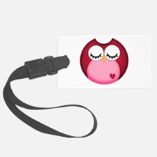 Dark Pink Owl Luggage Tag