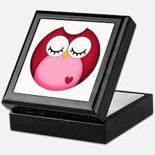 Dark Pink Owl Keepsake Box