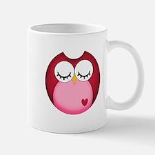 Dark Pink Owl Mugs