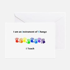 Instruments of Change I Teach Greeting Cards