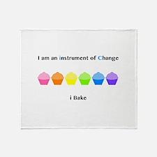 Instrument of Change I Bake Throw Blanket