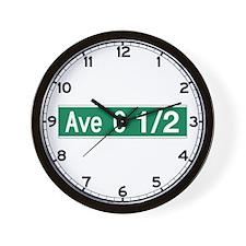 Avenue O 1/2, Galveston (TX) Wall Clock