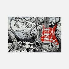 Guitar Rock Band Music Art by Jul Rectangle Magnet