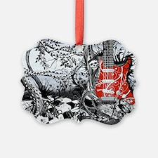 Guitar Rock Band Music Art by Jul Ornament