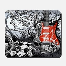 Guitar Rock Band Music Art by Juleez Mousepad