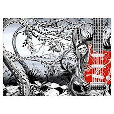 Guitar Rock Band Music Art by Juleez Poster