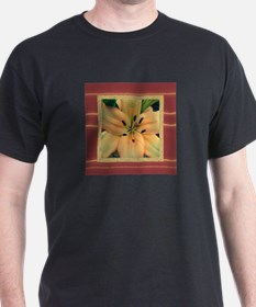 Flower-With-Stamen-Peach-Color T-Shirt