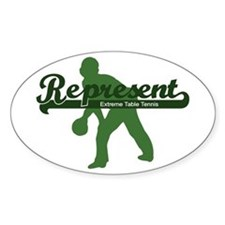 Represent Table Tennis Oval Decal