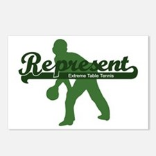 Represent Table Tennis Postcards (Package of 8)