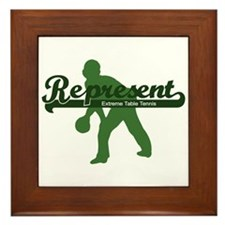 Represent Table Tennis Framed Tile