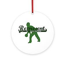Represent Table Tennis Ornament (Round)