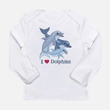 Cute Porpoise Long Sleeve Infant T-Shirt