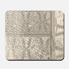 Artist Quotes Vintage Design art Print Mousepad
