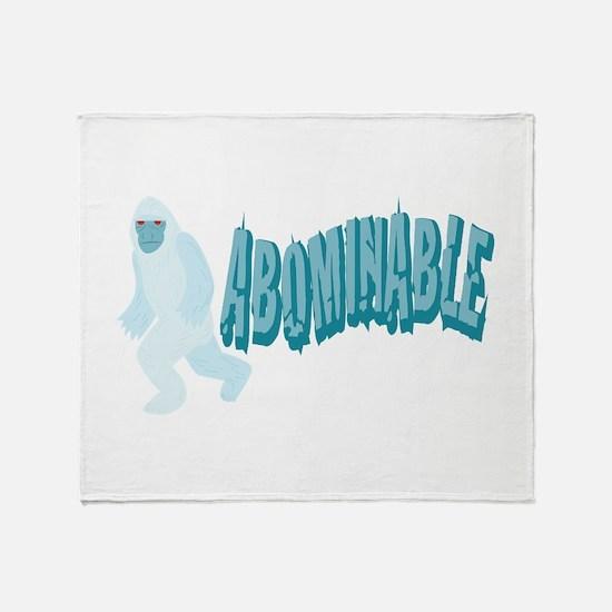 Abominable Yeti Throw Blanket
