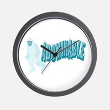 Abominable Yeti Wall Clock