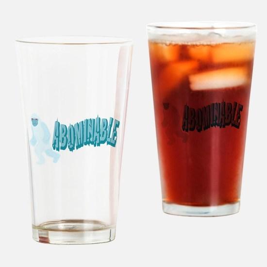 Abominable Yeti Drinking Glass