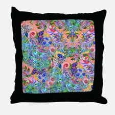Colorful Flower Garden Landscape Happ Throw Pillow